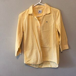 Yellow Lacoste button up